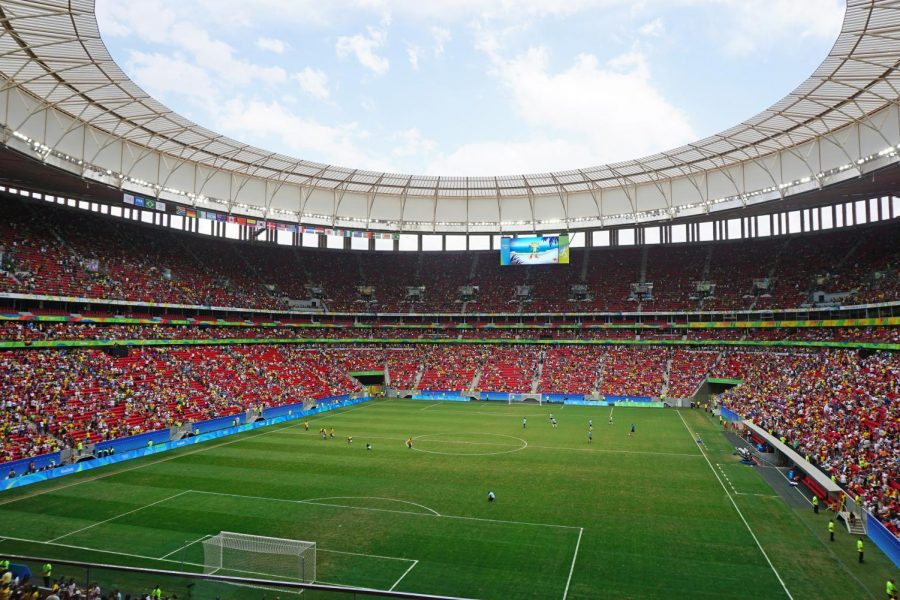 Mane+Garrincha+stadium+during+the+Portugal+x+Germany+soccer+game%2C+Brasilia%2C+2016+Summer+Olympics+%28Rio+2016%29.%0A