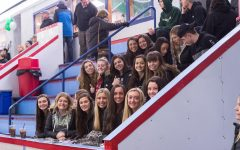 Abington High School hockey fans come to root on the team at the Rockland Rink for Senior Night on Wednesday, February 5, 2020.