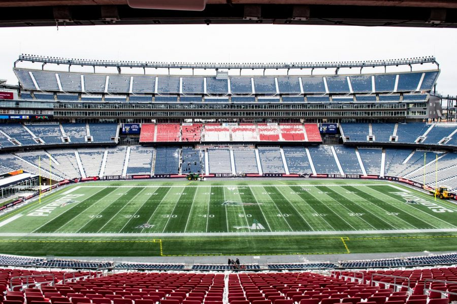 Gillette Stadium in Foxboro, home of the New England Patriots hosts Abingtons Division 7 Green wave football team.