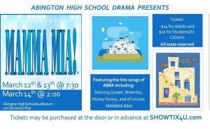"""Abington Drama Club Prepares for """"Mamma Mia!"""""""