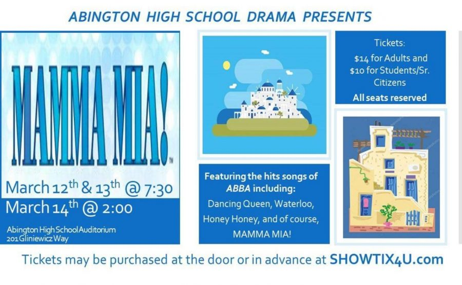 Abington+High+School%27s+performance+of+Mamma+Mia+will+be+March+12-14%2C+2020+in+the+auditorium.