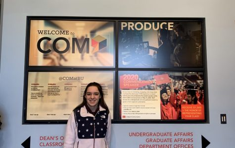 Abington sophomore Maria Wood at Boston University's College of Communication during Winter Visit Day on February 21, 2020.