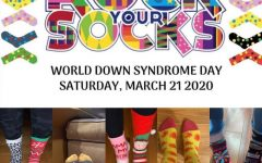 The Green Wave Cheerleaders always represent and on Saturday, March 21, 2020 the team's collage #athometogether cheers on World Down Sydrome Day at Abington High School.