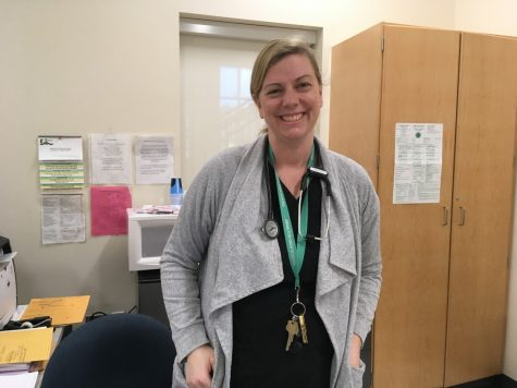 Ms. Donna Conso, Abington High School nurse, in her office on Tuesday, March 10, 2020.