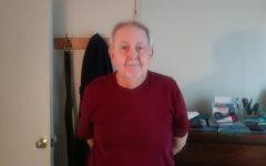 U.S Navy veteran Harry Brooks, grandfather of AHS junior James Mulkern, in his house in Braintree, Massachusetts on Tuesday, April 14, 2020.