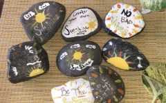 Abington High School junior Lyla Blanchard has been making Sunshine Stones during the Covid-19 lockdown. Having an abundance of time, several students like Blanchard and Tirrell are finding something to do that gives purpose and inspires them.