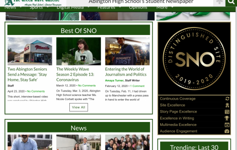 The Green Wave Gazette is a student newspaper club at Abington High School. It has published work by students for almost two decades. In 2019-2020, the online newspaper was named a distinguished site by SNO.