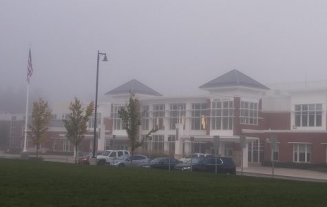 The Abington Middle/High School shrouded with morning mist on Thursday, October 15, 2020.