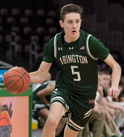 Abington High School senior Matt Maguire at the 2020 Andrew James Lawson Foundation Invitational held at TD Garden, Saturday, January 25, 2020.