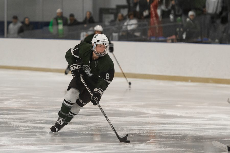 John Polito of the Abington Hockey Team during the 2019-2020 season in a game against Foxborough at the Canton Ice House.