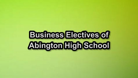 Cara Howell and Derek Tirrell talk about the business classes offered at Abington High School