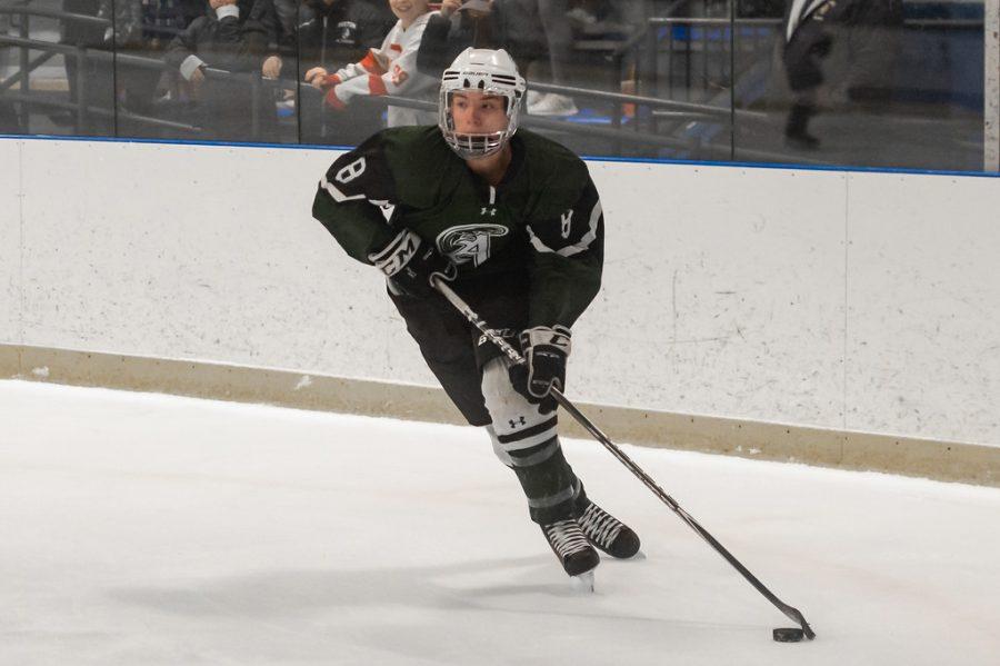 Abington High School senior John Polito skating in a game during the 2019-2020 season.