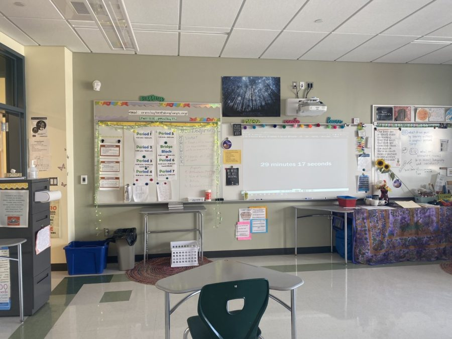 This is a recently hired English teacher at AHS, whose room is known for having a unique aesthetic.