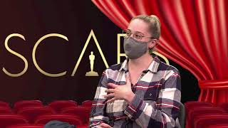 Megan Tomlin discussing the nominees for the Best Picture Academy Award with Matt Lyons