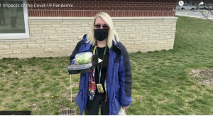 The COVID-19 pandemic has changed people's lives and routines, including being able to eat lunch with friends and coworkers. Mrs. Patricia London, Abington Middle-High School librarian, eats her lunch alone in her car, as do many faculty this year.