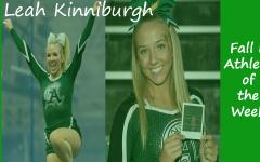 Senior cheerleader Leah Kinniburgh is highlighted as a Fall II Sports Athlete of the Week.
