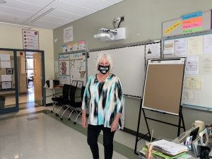 Abington High School teacher Ms. Patricia Pflaumer in her room on On May 24, 2021. Pflaumer has taught courses in English, Poetry, and Journalism at the high school. She is retiring after 20 years.