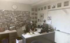 Abington High School's Boys Basketball coach and Athletic Director Peter Serino in his office at the end of the day on May 18, 2021. Serino was named Div. 4 South Coach of the Year by the South Shore League.