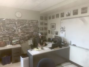 Abington High Schools Boys Basketball coach and Athletic Director Peter Serino in his office at the end of the day on May 18, 2021. Serino was named Div. 4 South Coach of the Year by the South Shore League.