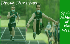 Junior Track & Field member Drew Donovan is highlighted as a Spring Sports Athlete of the Week.