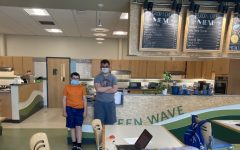 During the COVID-19 pandemic, it was not business as usual for schools, including Abington High School, where the Green Wave Cafe was closed to students and faculty from September 2020 until May of 2021 when it opened up for period one customers. Patrick Jenner and Dylan Spring are students who work at the Cafe.